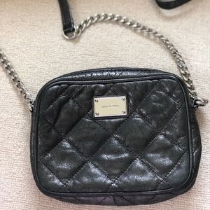 Authentic Michael Kors Cross Body Bag, Metallic